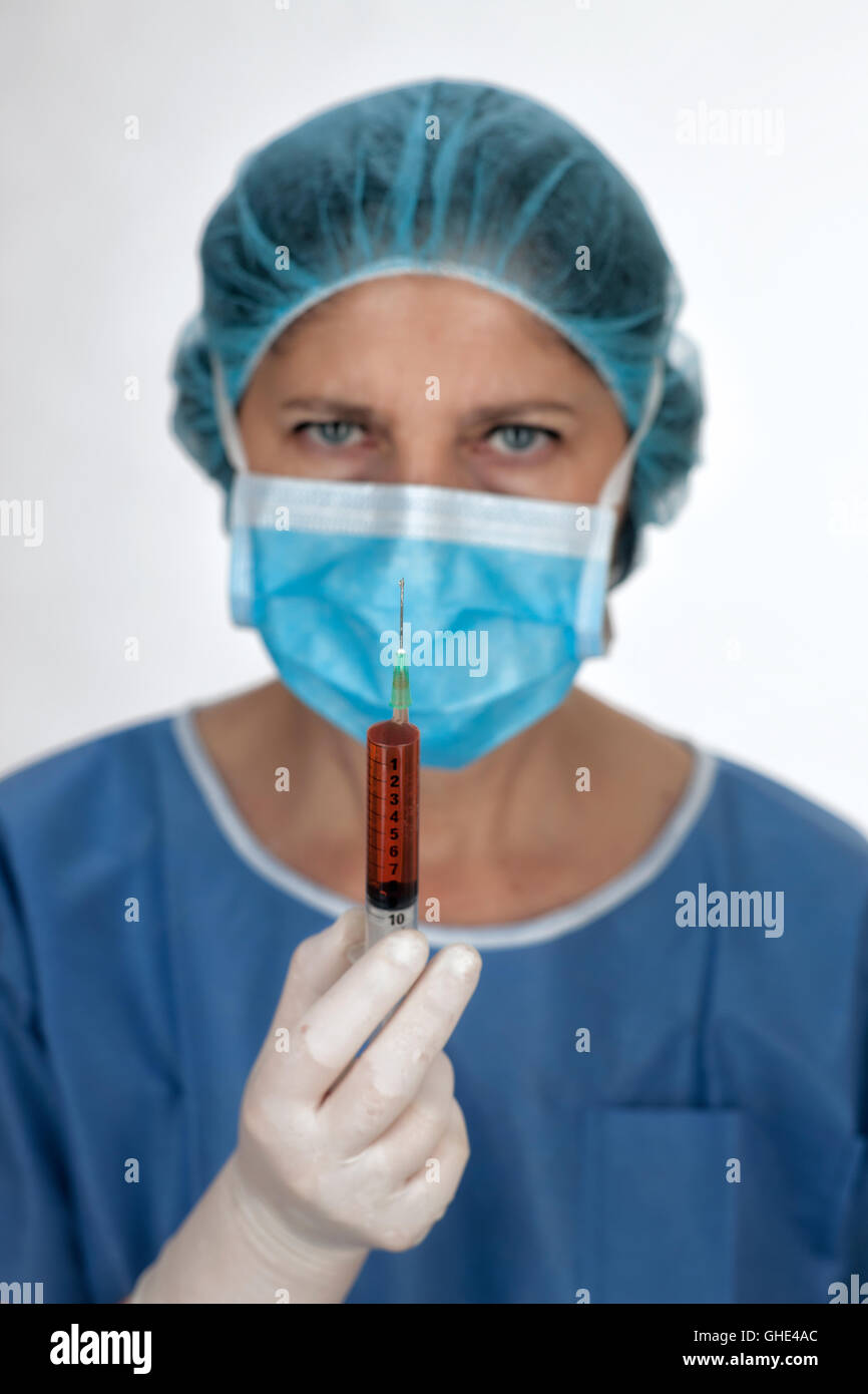 Hospital operating theatre nurse - Stock Image