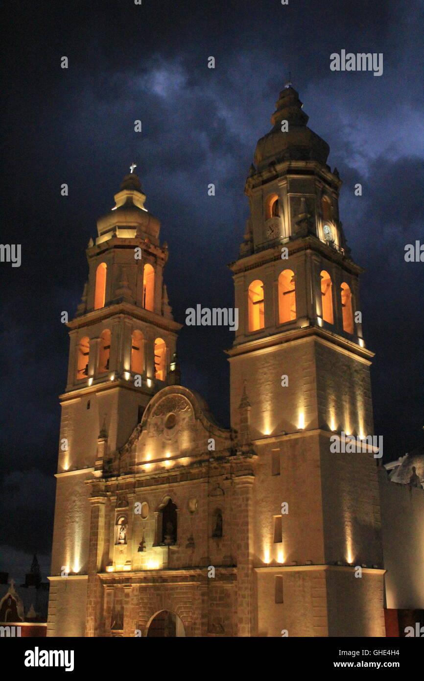 Catederal de neustra senora de la purisma concepcion campeche mexico brian mcguire - Stock Image