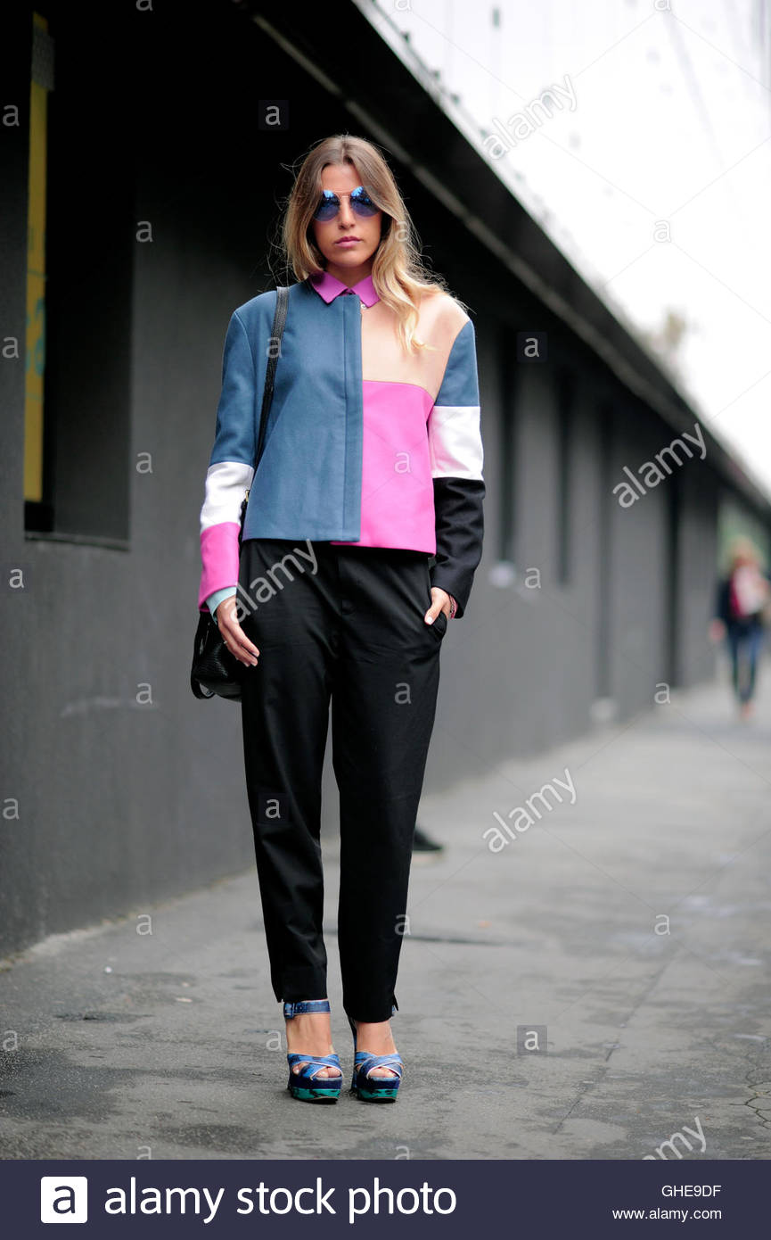 Lucrezia Mancini Milan Italy during Milan Fashion Week. - Stock Image
