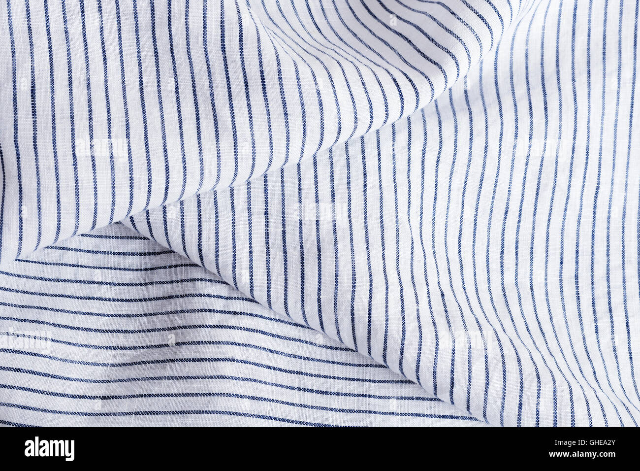 cf862be92d Soft fabric with white and blue stripes texture and background Stock ...
