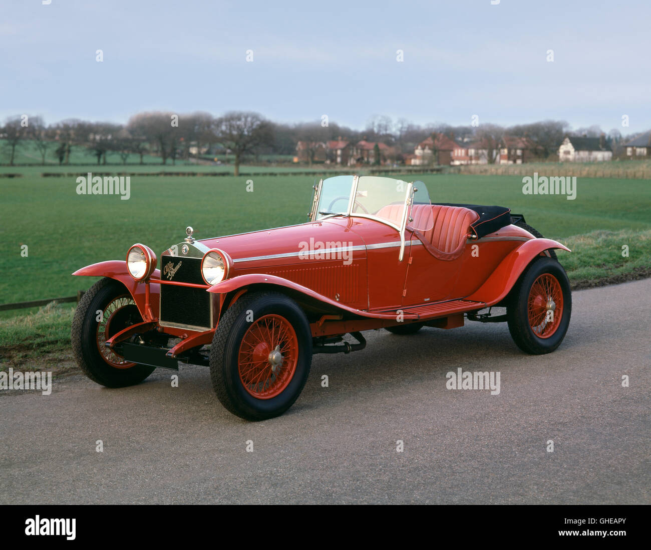 1929 Alfa Romeo Supercharged 1500 1750 Zagato with 1 75 litre engine Country of origin Italy - Stock Image