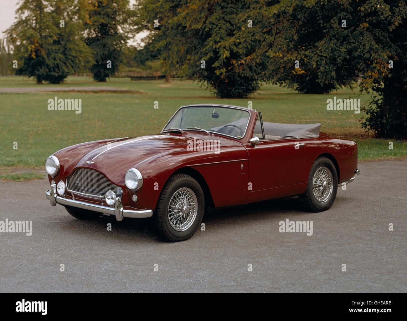 1959 Aston Martin DB Mk III drophead coupe. - Stock Image