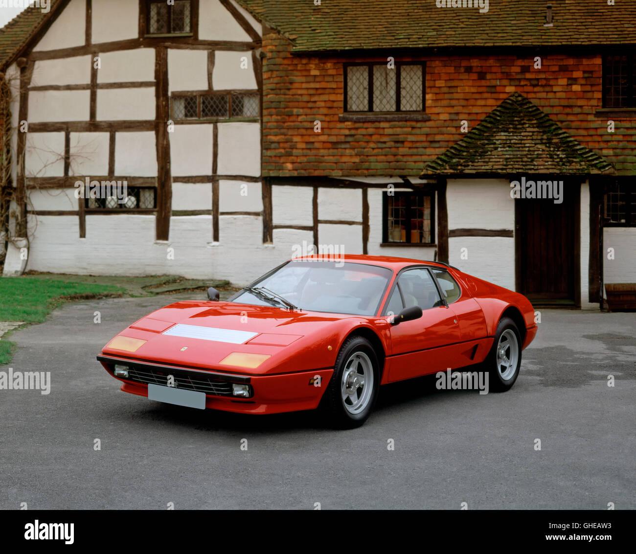 1984 Ferrari 512i BB Boxer Berlinetta 5 litre V12 engine developing 340bhp Country of origin Italy - Stock Image