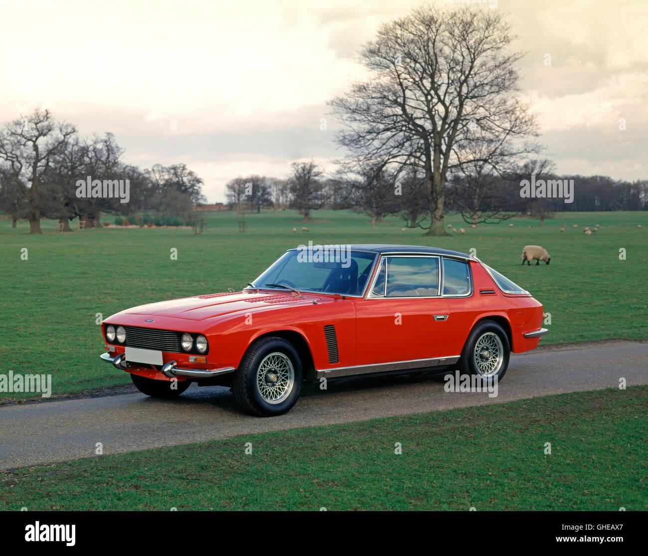 1968 Jensen Intereptor MkI Racing saloon 6 2 litre engine developing 450 bhp Country of origin United Kingdom - Stock Image