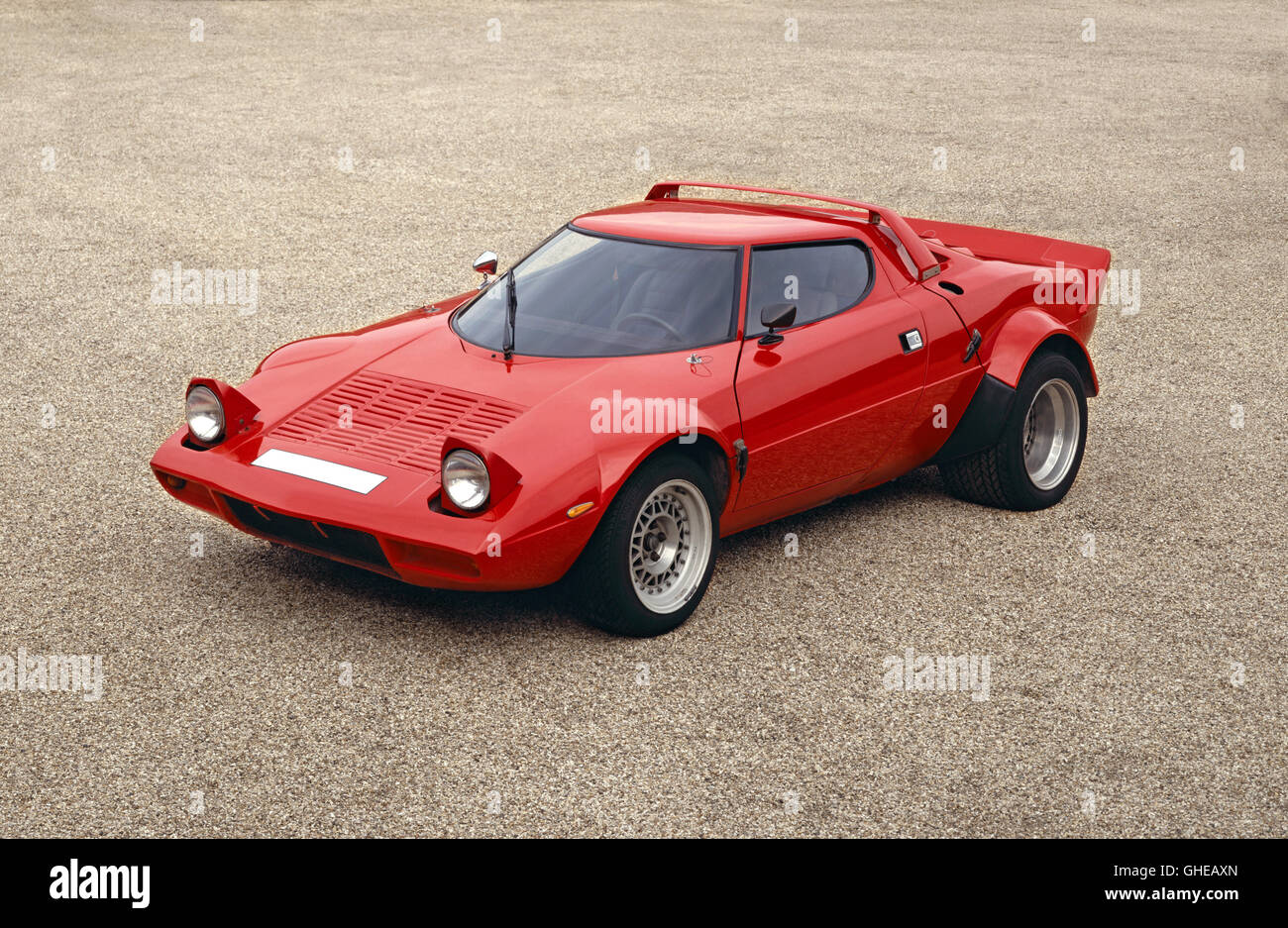 1975 Lancia Stratos V6 2 5 litre 4 OHC 2 door coupe Lancia won World Rally Championship in 1974 75 and 76 with the - Stock Image