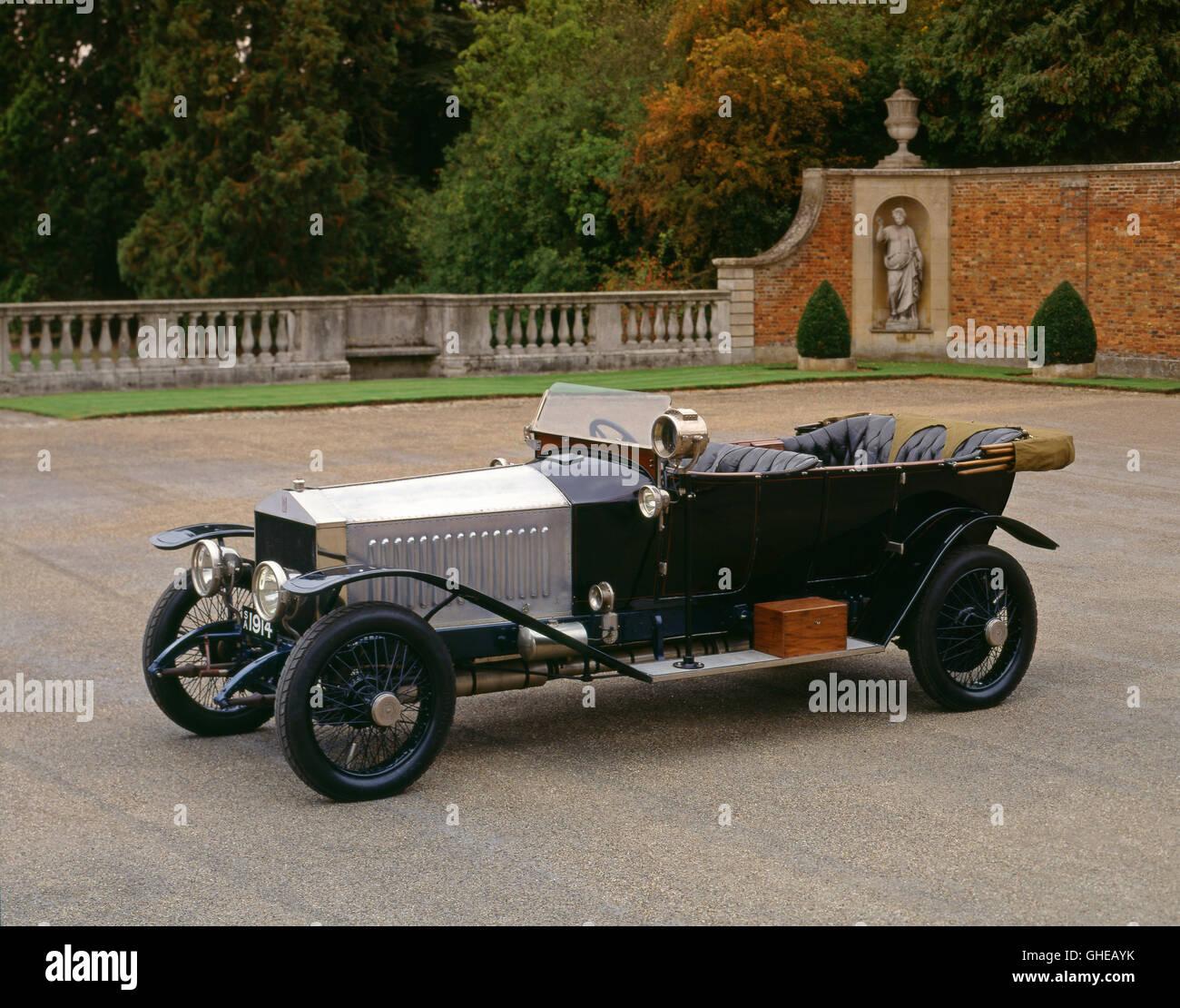 1914 Rolls Royce Silver Ghost Tourer Alpine Eagle - Stock Image