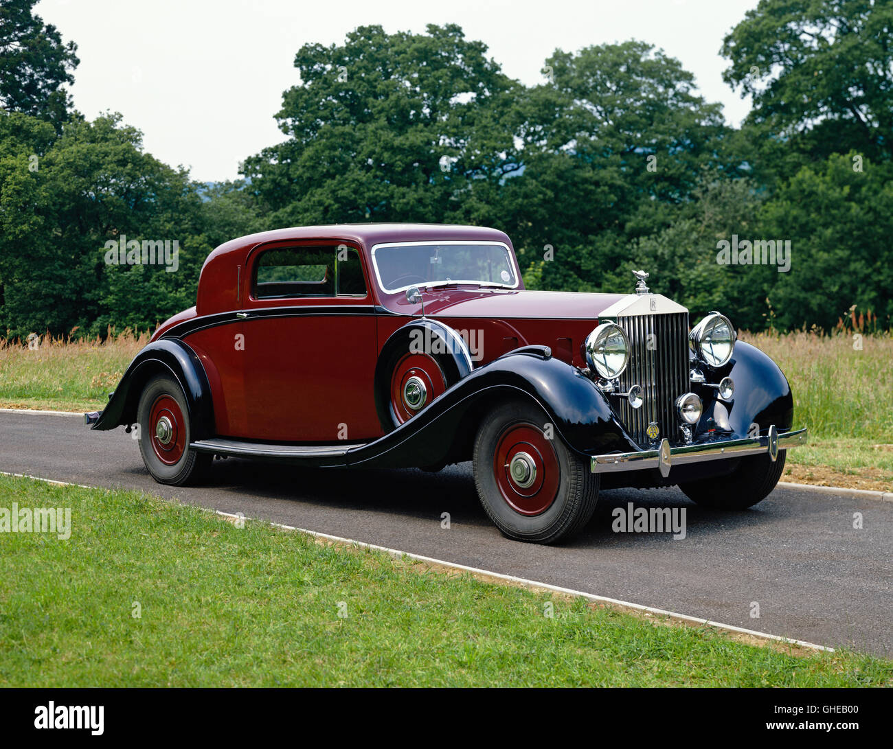 1938 Rolls Royce Phantom III V12 2 door fixed head coupe Country of origin United Kingdom - Stock Image