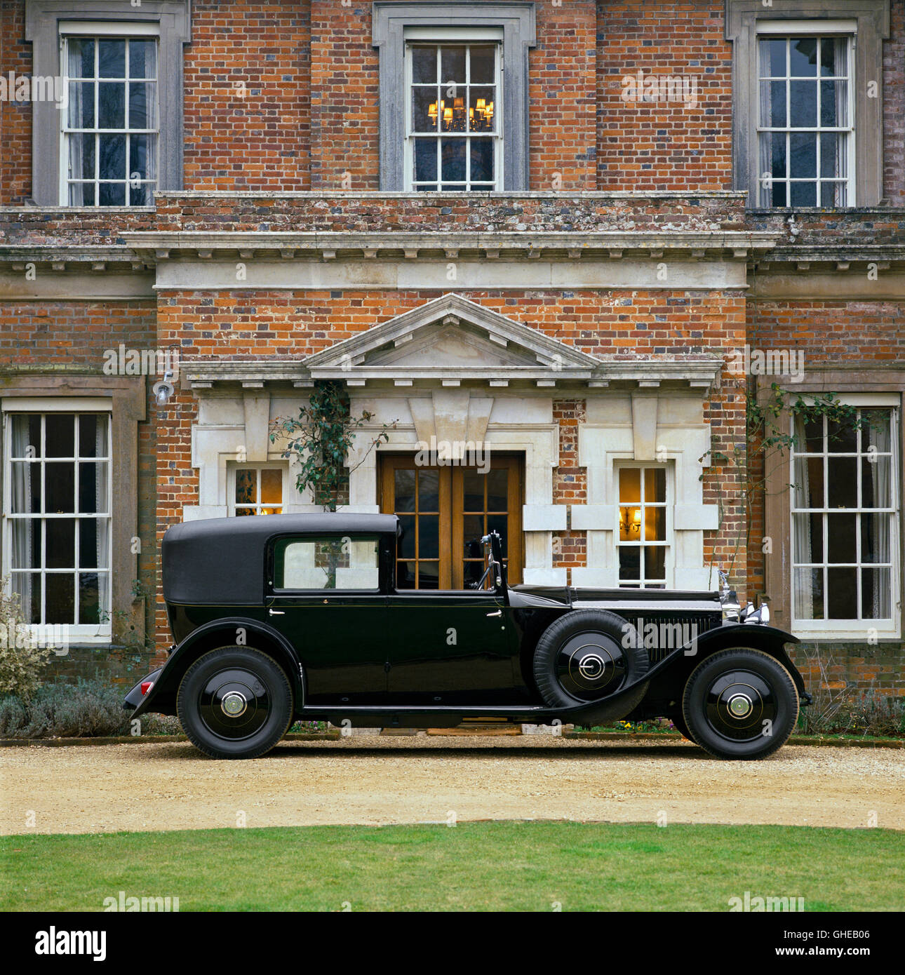 1929 Rolls Royce Phantom II Sedanca de Ville Country of origin United Kingdom - Stock Image