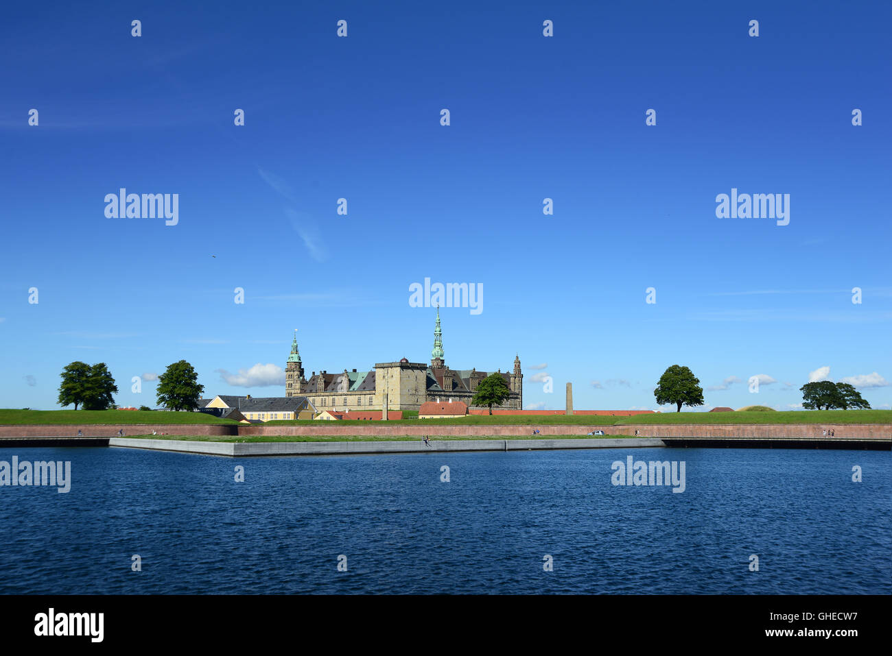 Kronborg Castle of Hamlet in Denmark - Stock Image