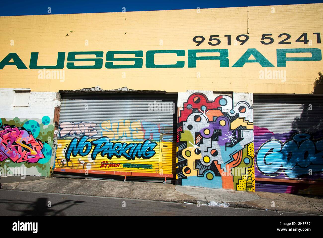 Graffiti and Street Art around Newtown on August 10, 2016, in Sydney ...