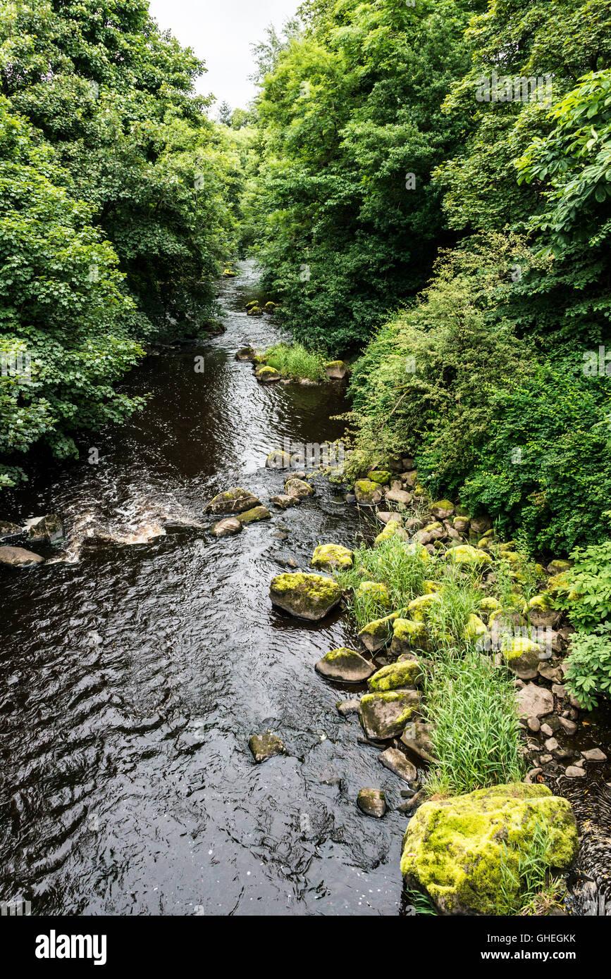 The river Almond, Livingston, West Lothian, Scotland - Stock Image
