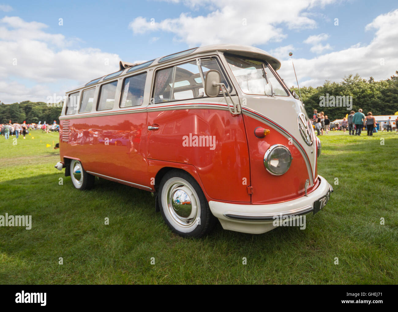 Front View Of Classic Vw Camper Van Stock Photo Alamy