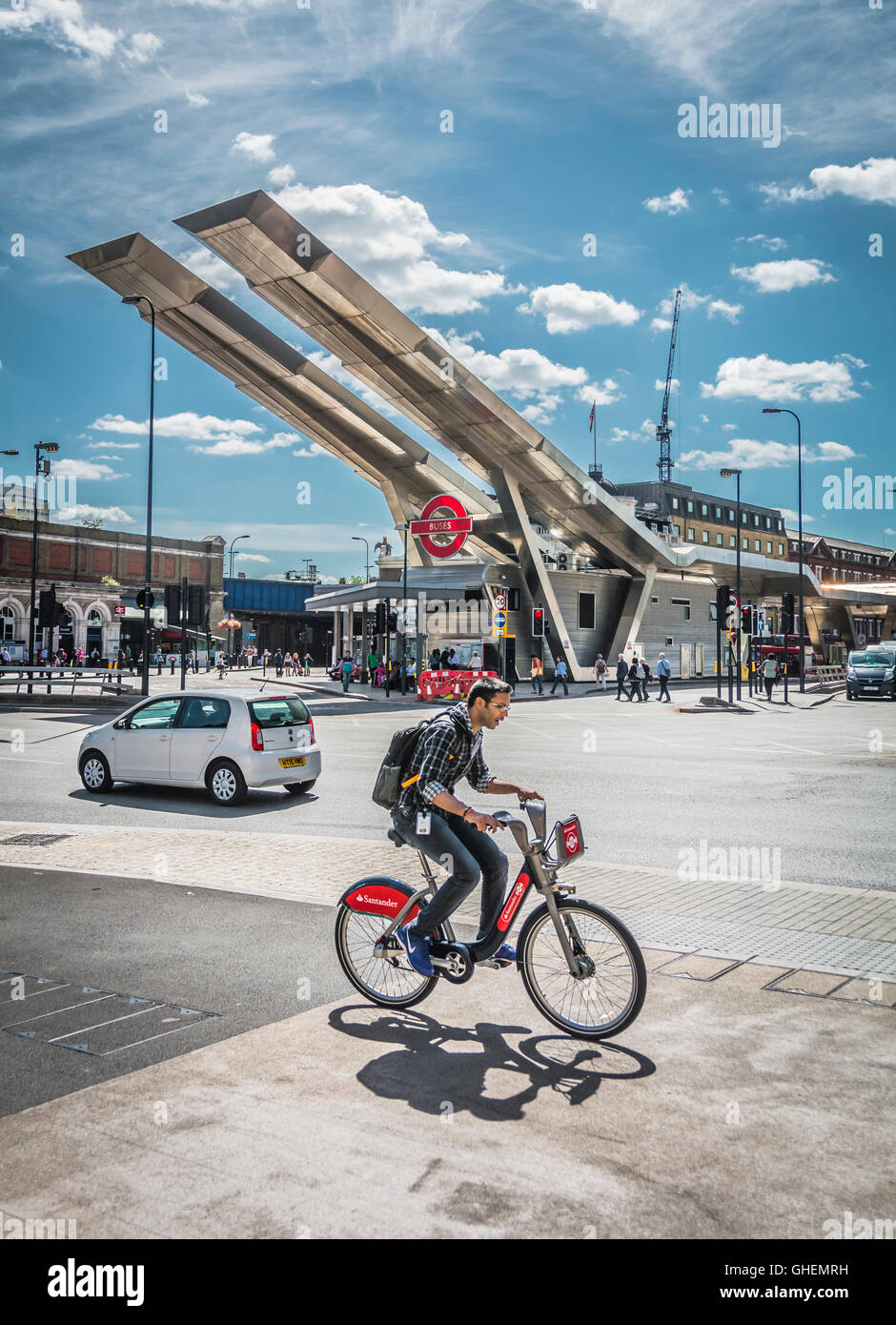 Vauxhall Cross transport interchange in the London Borough of Lambeth, London,  United Kingdom - Stock Image