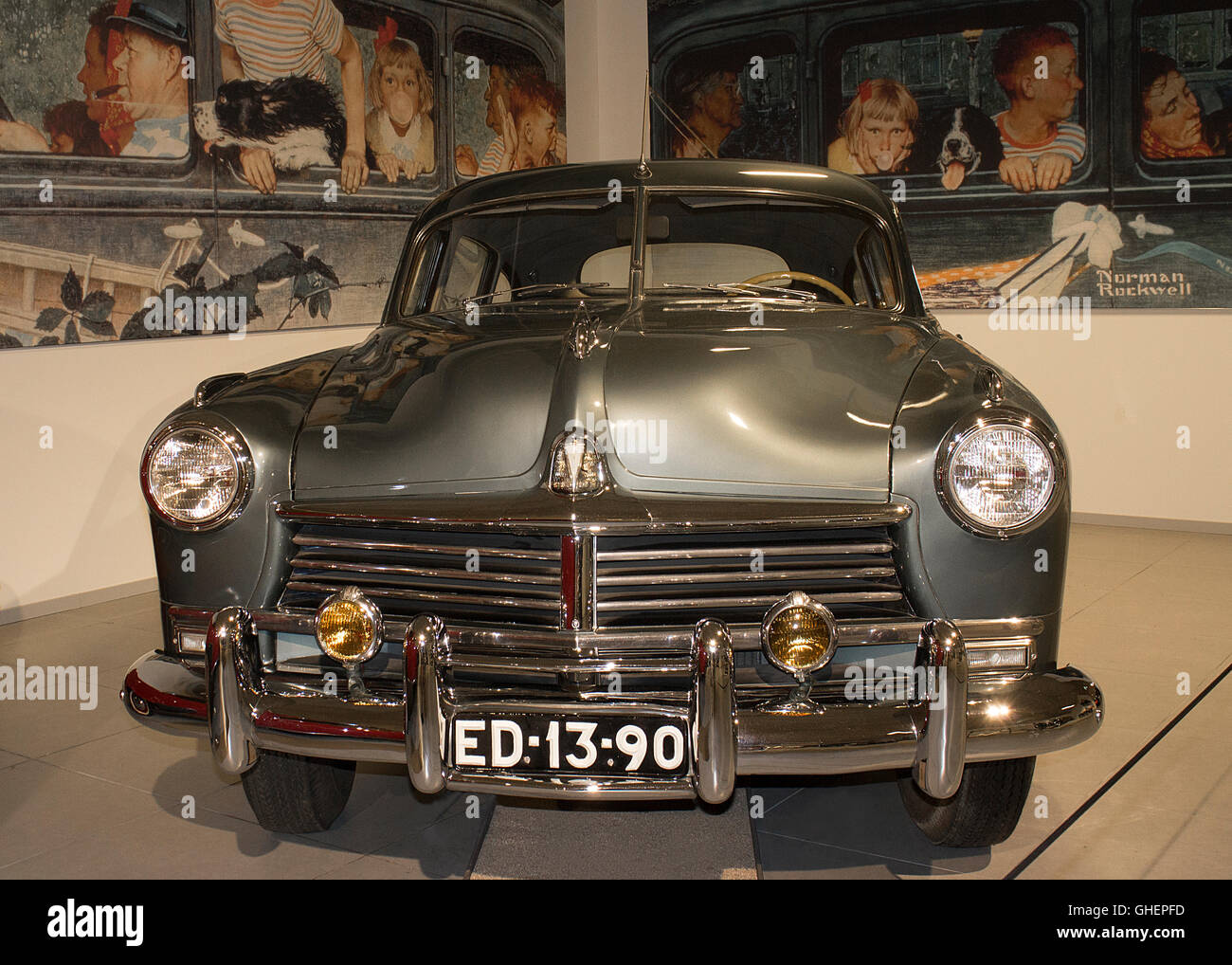 A 1948 Hudson Commodore 8 at the Louwman Museum, The Hague, Netherlands Stock Photo
