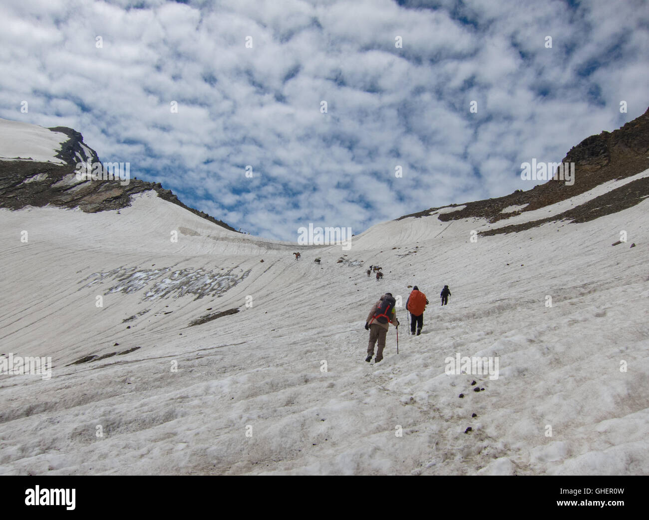 Bhaba Pass Trek (Himachal Pradesh, India) - Stock Image