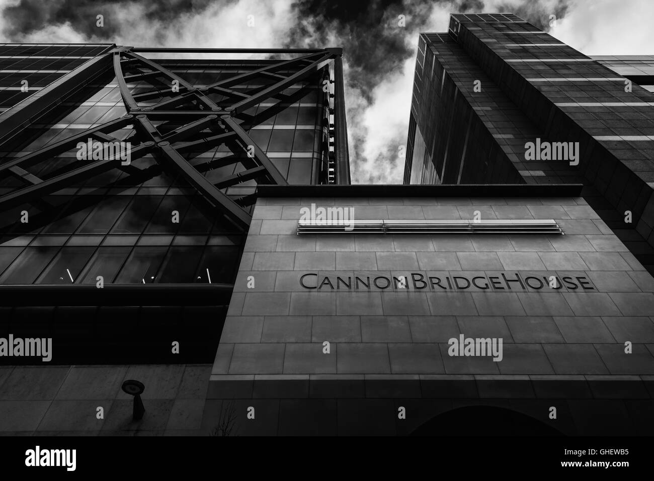Cannon Bridge House office building in the City of London, London, United Kingdom - Stock Image