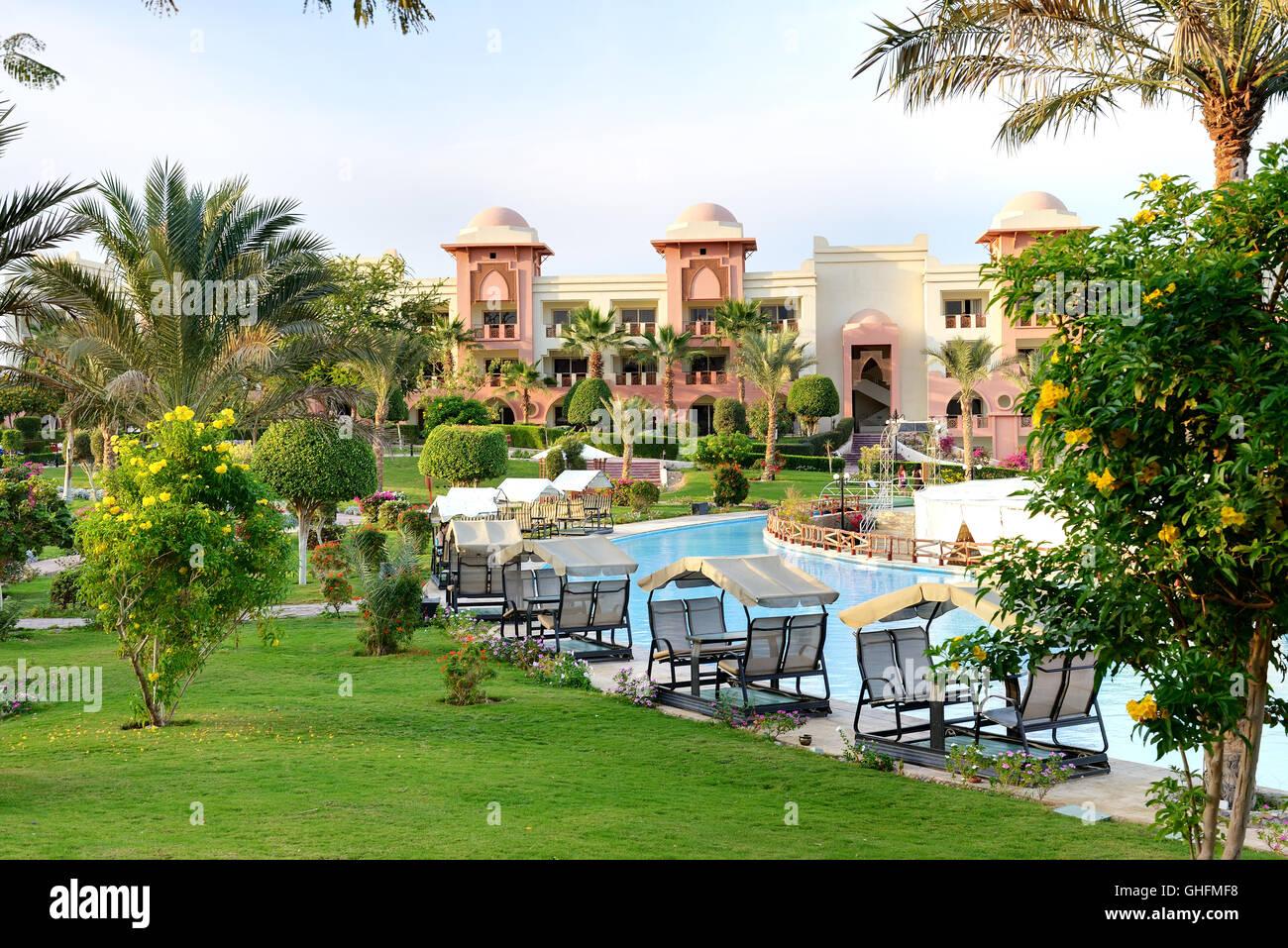 Egypt Red Sea Hurghada Swimming Pool Stock Photos & Egypt Red Sea ...