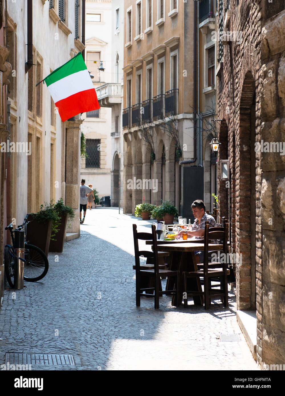 Lunch in Verona - Stock Image