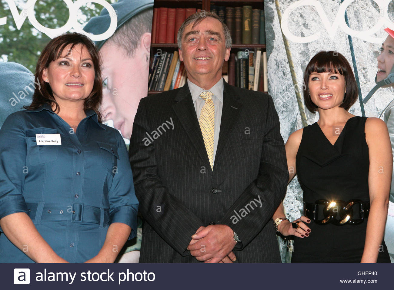 File photo dated 6/10/2009 of Dannii Minogue (right), with presenter Lorraine Kelly (left) and the Duke of Westminster, - Stock Image
