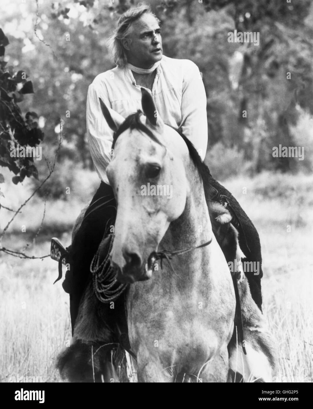 Duell am Missouri - The Missouri Breaks USA 1976 / Arthur Penn MARLON BRANDO (Robert E. Clayton) Regie: Arthur Penn - Stock Image