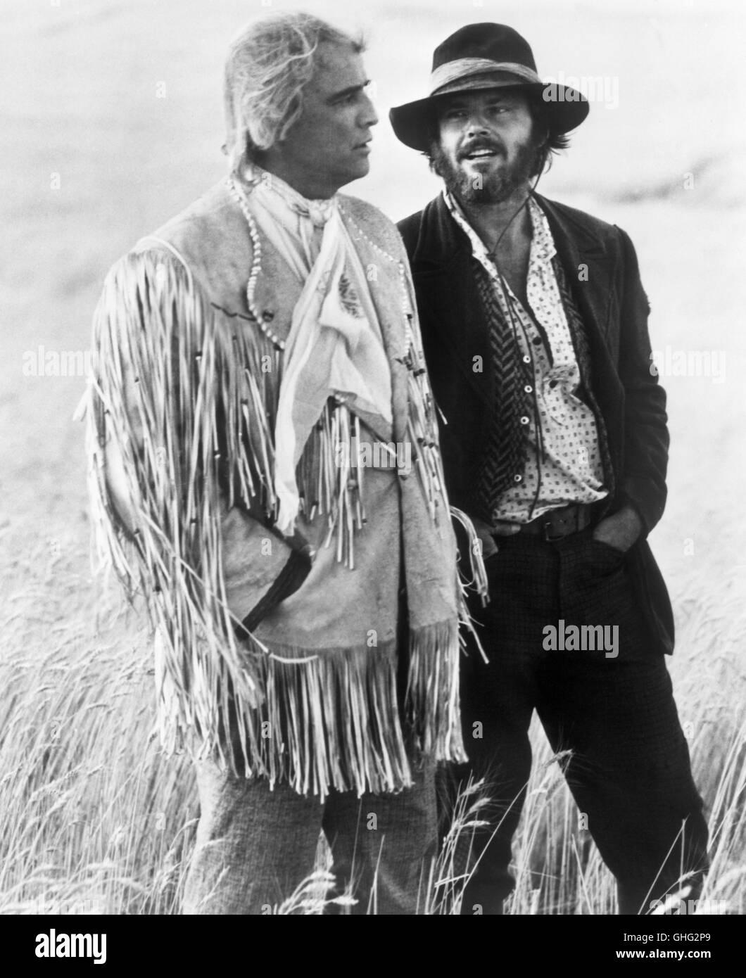 Duell am Missouri - The Missouri Breaks USA 1976 / Arthur Penn Lee Clayton (MARLON BRANDO) is a 'regulator', - Stock Image