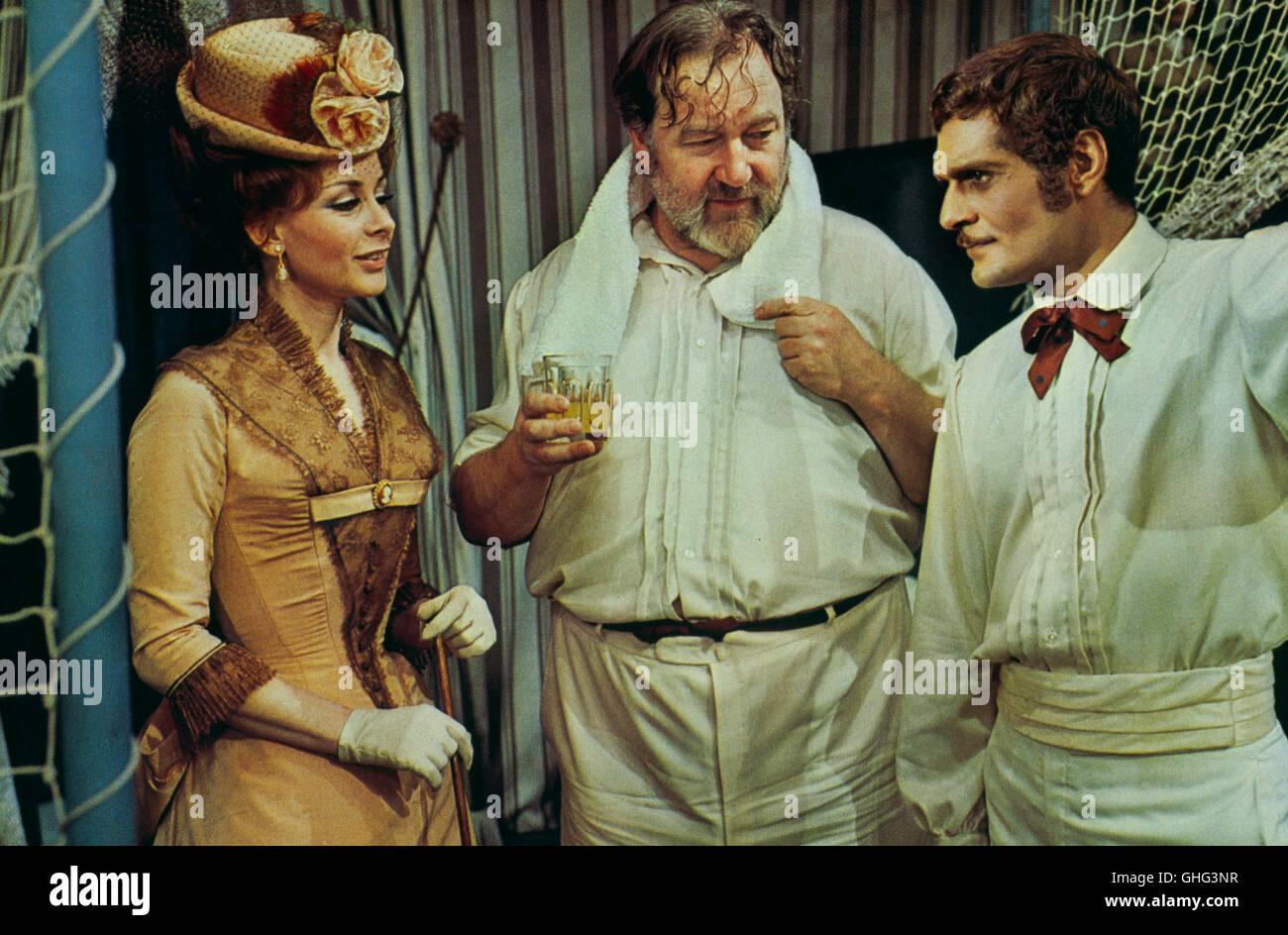 ANDREA PARISY (Princess Stephanie), JAMES ROBERTSON JUSTICE (Edward, Prince of Wales), OMAR SHARIF (Archduke Rudolph) - Stock Image