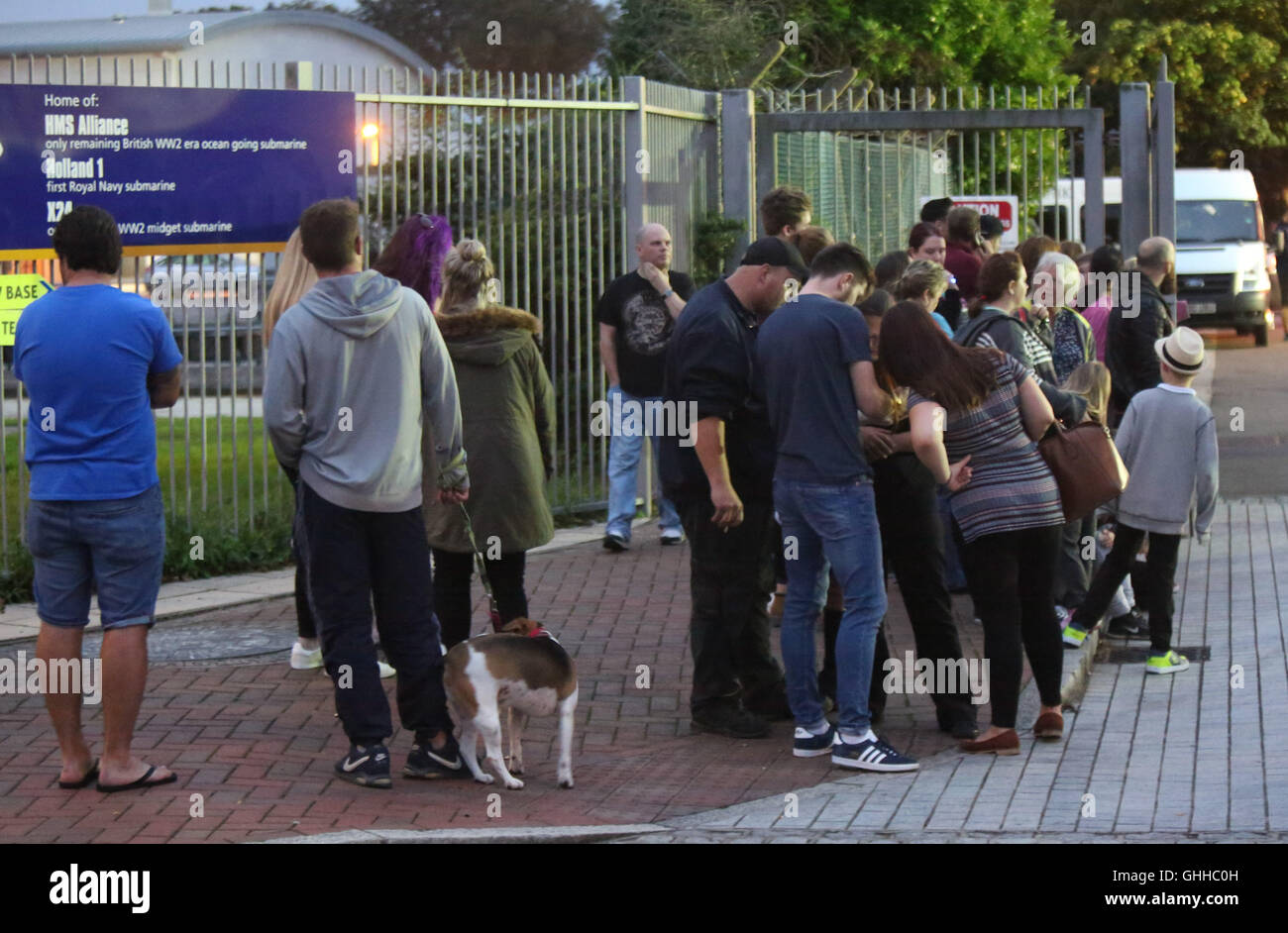 Gosport, Hampshire, UK. 28th September, 2016.  The rumour mill has been buzzing about A-listers out in force at Stock Photo
