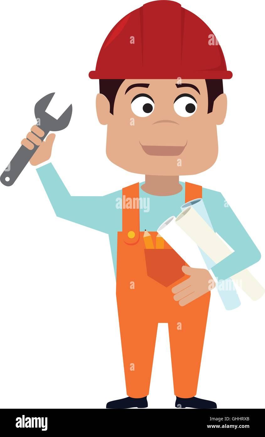 builder construction worker icon vector graphic stock vector art