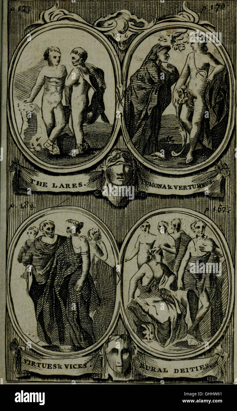 The Pantheon, or, Fabulous history of the heathen gods, goddesses, heroes, &c. - explained in a manner entirely - Stock Image