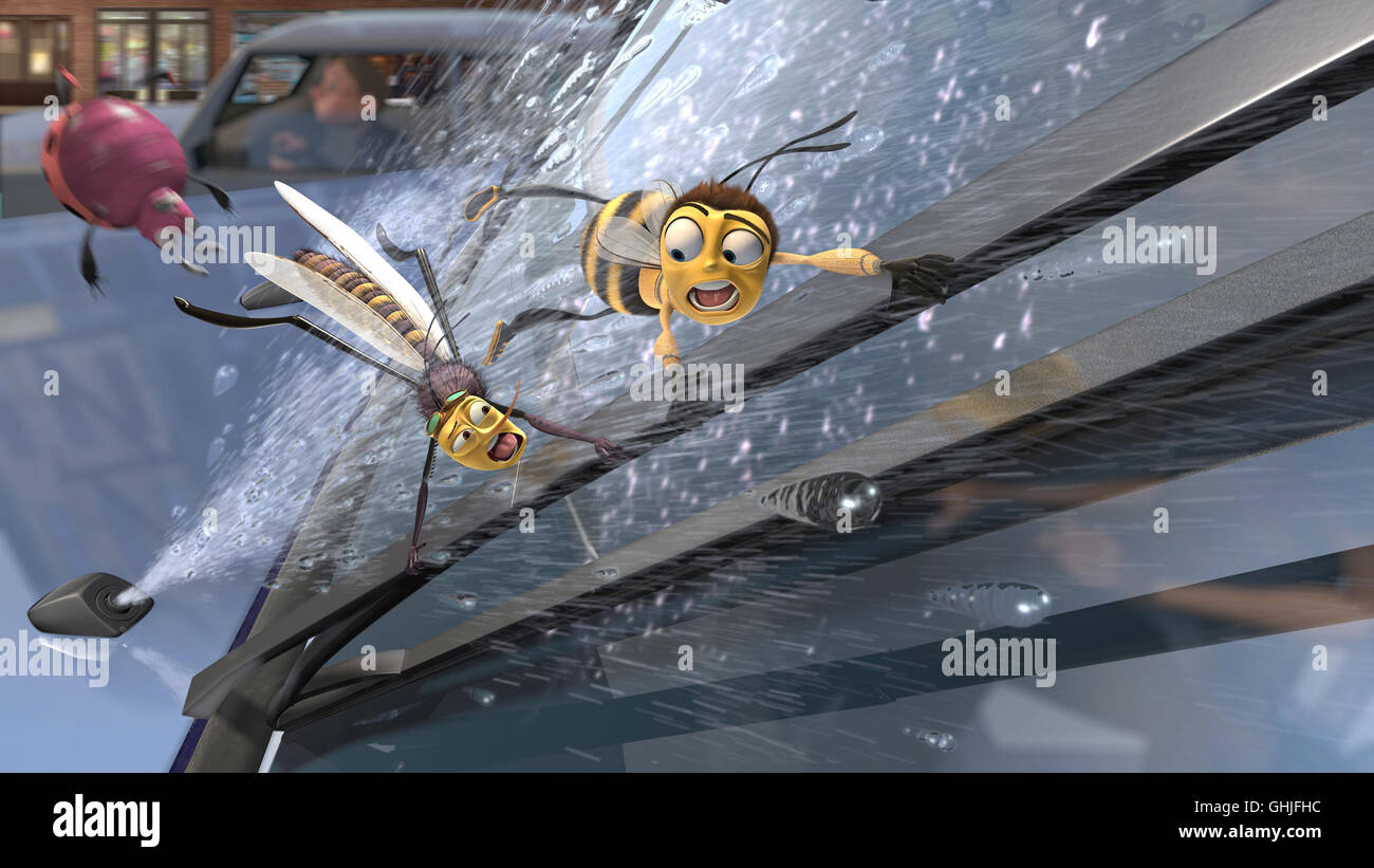 Bee Movie - Das Honigkomplott / Scene with Bee Berry B. Benson Regie: Simon J. Smith aka. Bee Movie - Stock Image