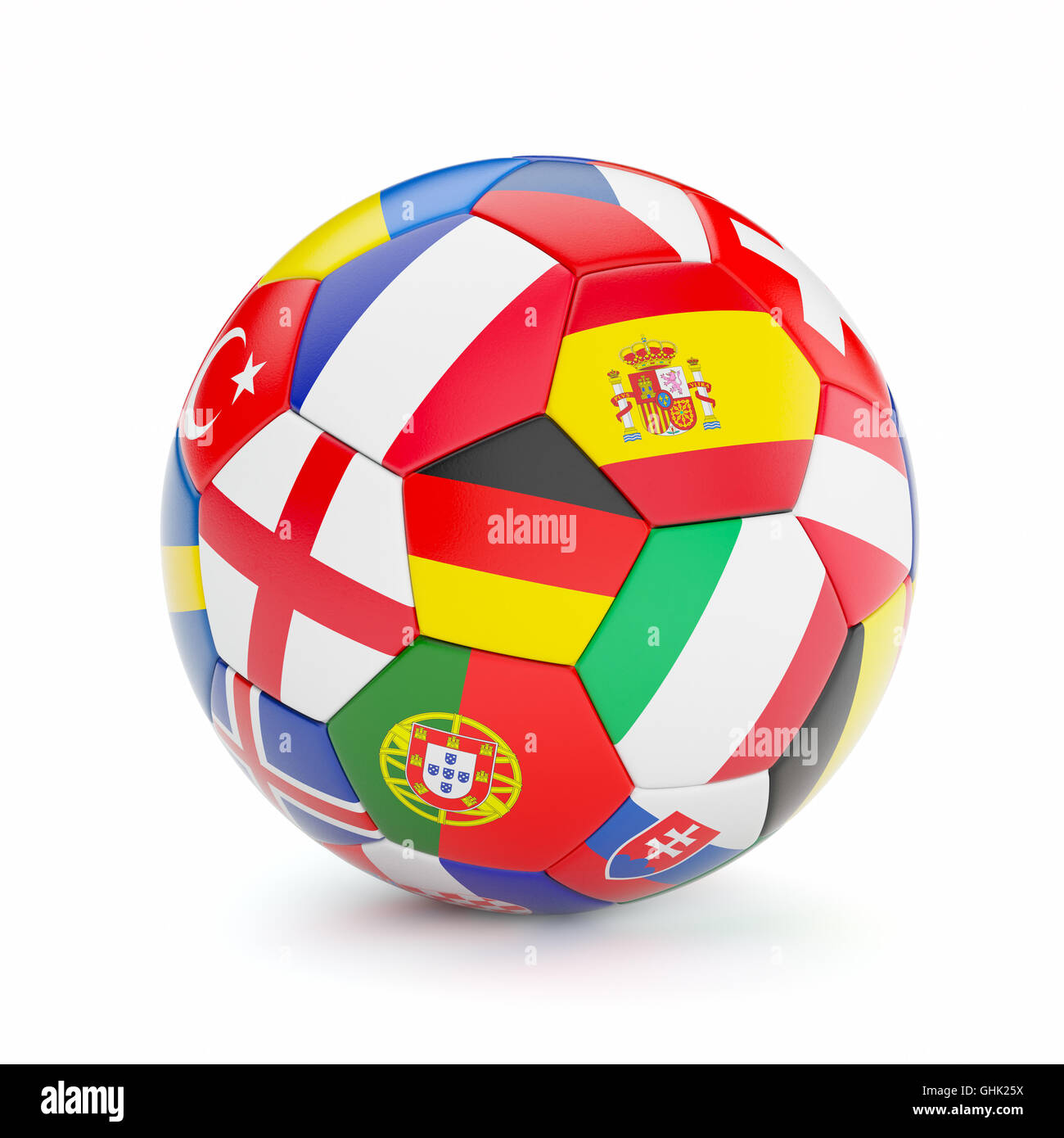 Soccer Football Ball With Europe Countries Flags Stock Photo Alamy