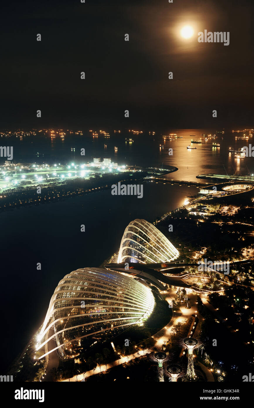Singapore rooftop view with urban skyscrapers. - Stock Image