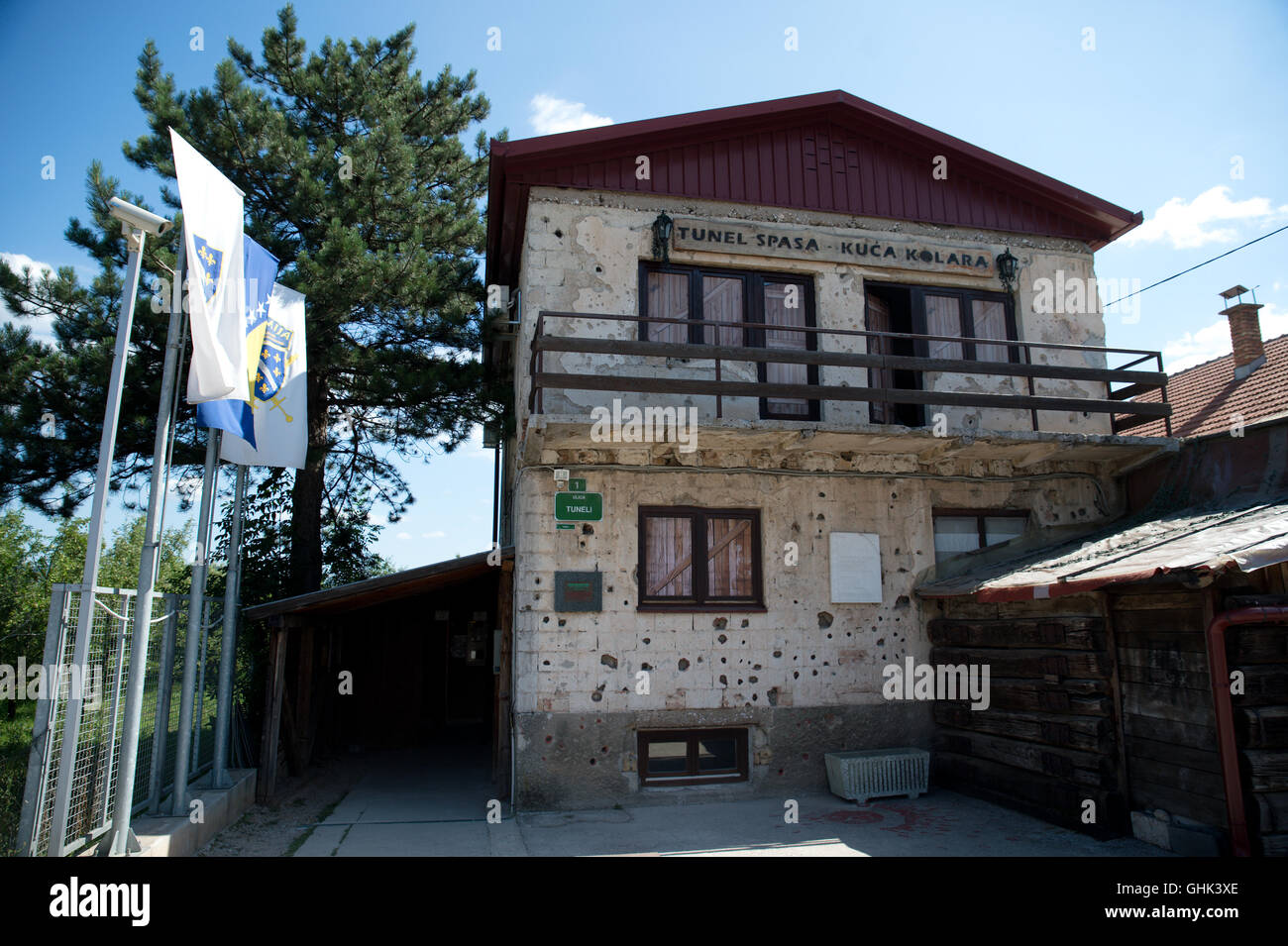 Sarajevo, Bosnia - July 7, 2016:The house through which Sarajevo Tunnel connected the city with other parts during - Stock Image