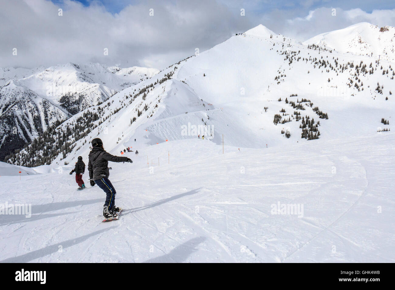 Kicking Horse ski resort near Golden, BC, Canada. - Stock Image