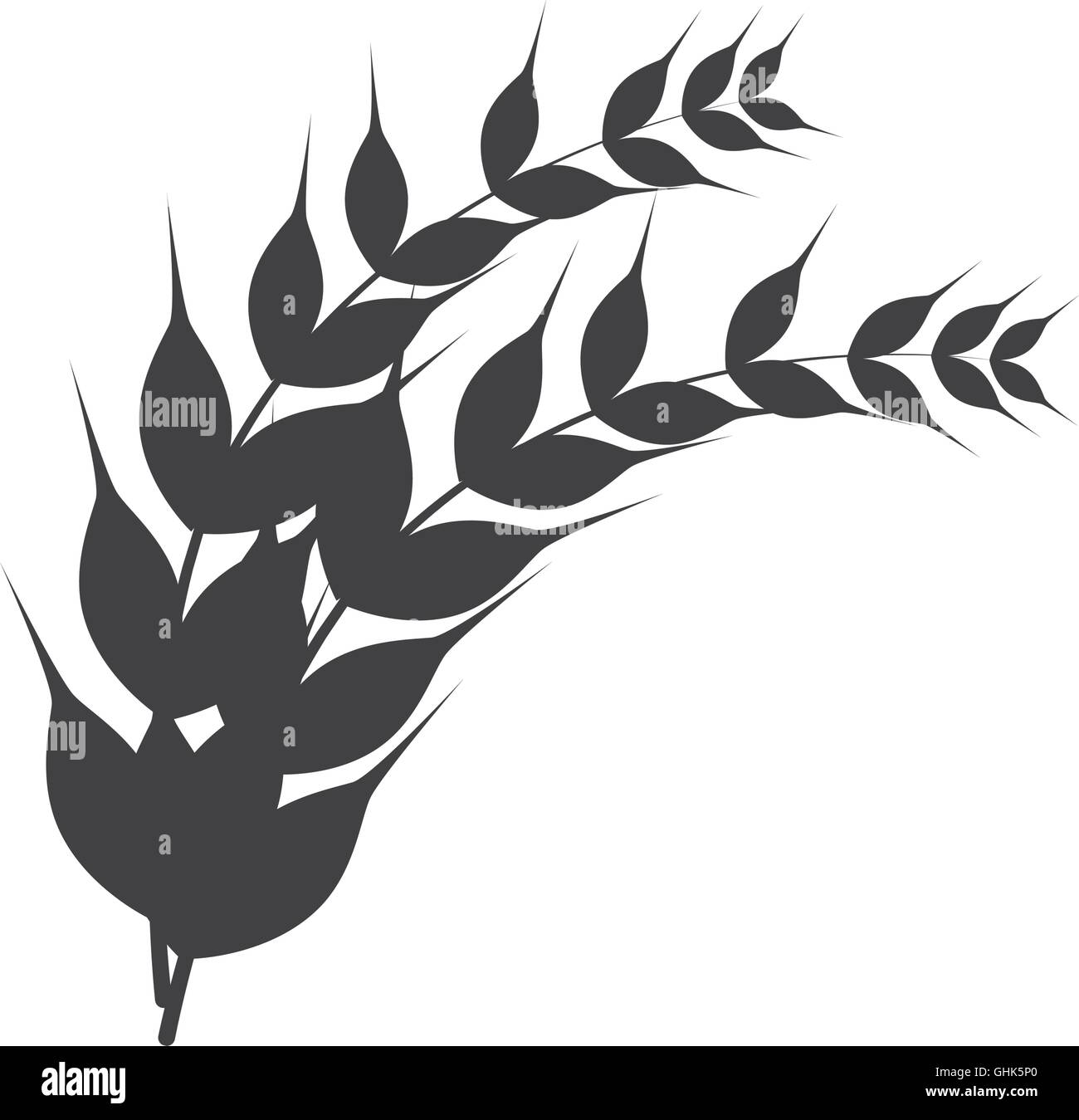 laurel branch nature icon vector graphic - Stock Image