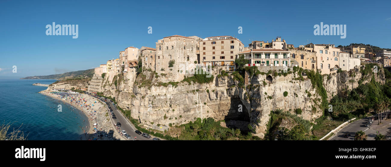 Panoramic view of Tropea, Calabria, Italy Stock Photo