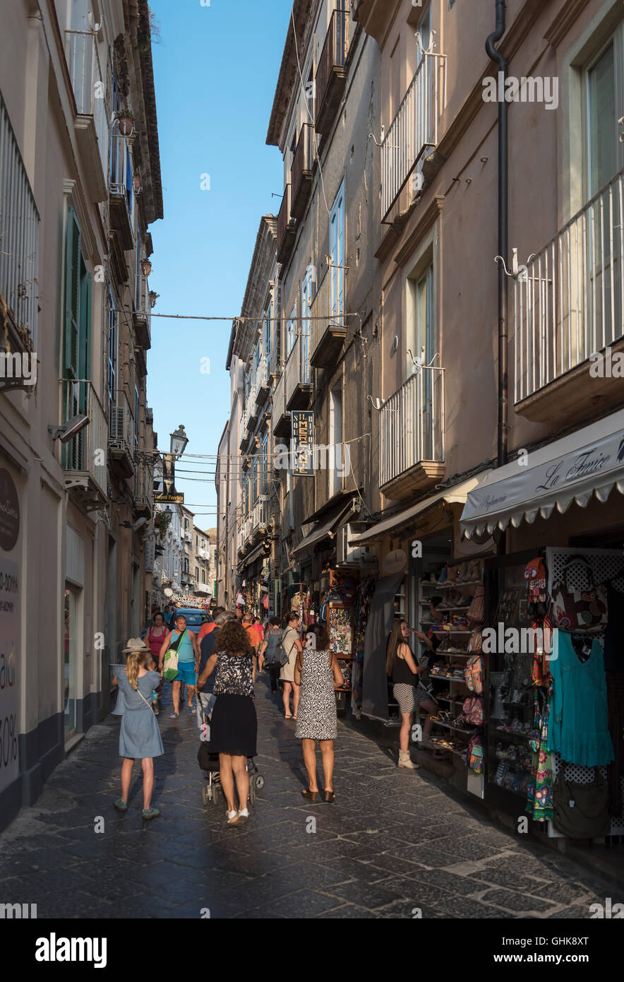 Street scene, Tropea, Calabria, Italy Stock Photo