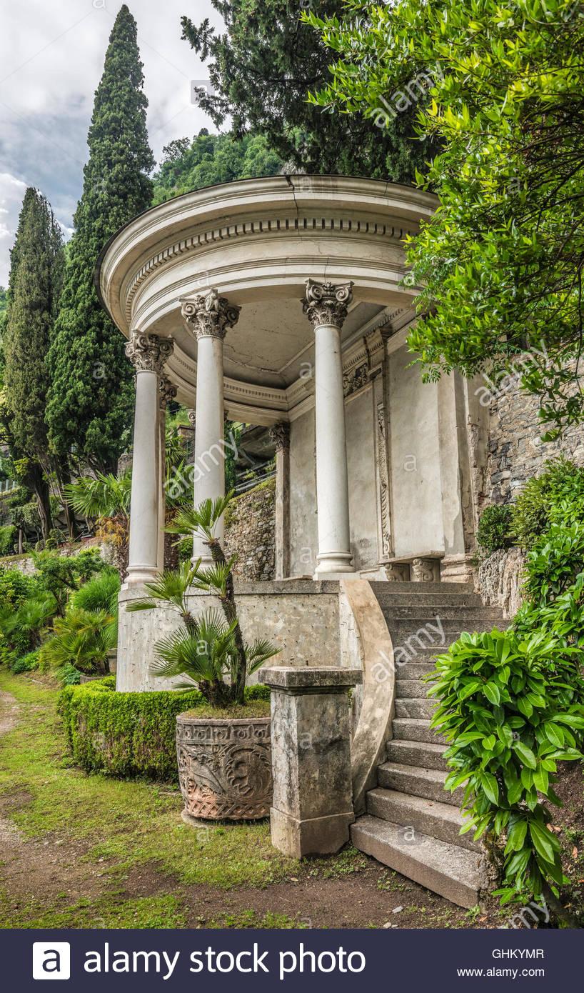 Botanischer Garten Italien Gardasee: Villa Monastero Lake Como Stock Photos & Villa Monastero