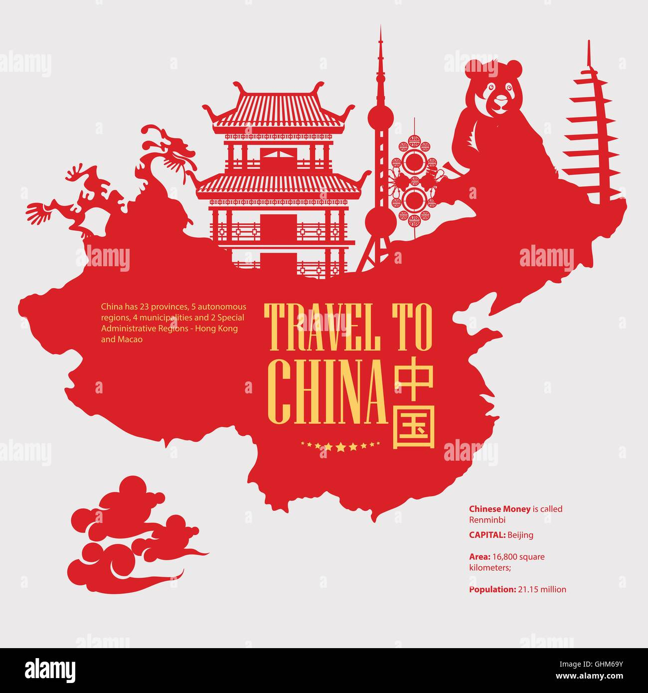 China travel vector illustration chinese set with for Chinese vector