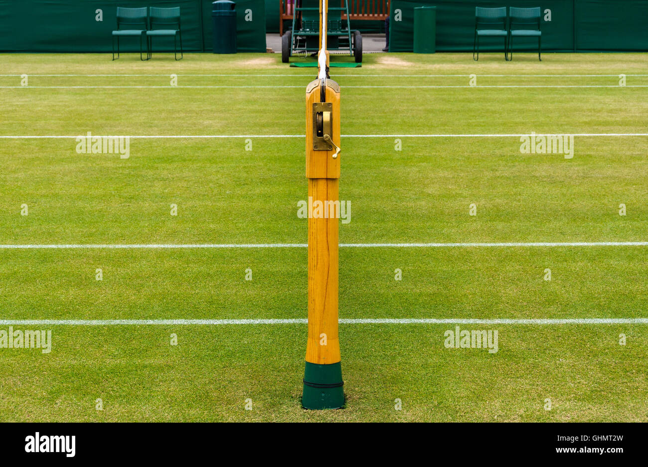 Detail of a lawn tennis court - Stock Image