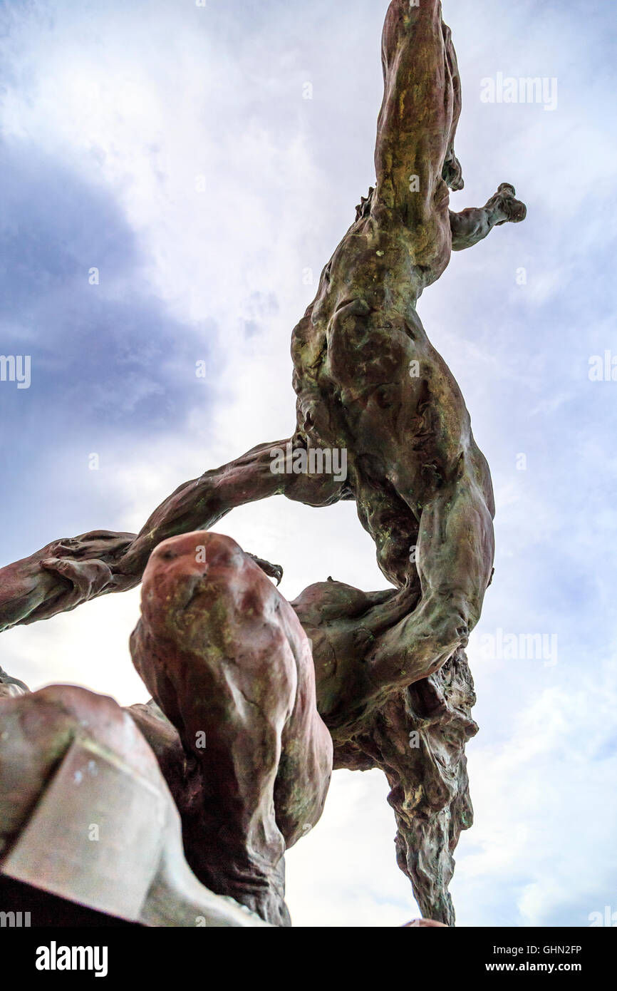 Ballaja Bronze Sculpture in Old San Juan, Puerto Rico - Stock Image