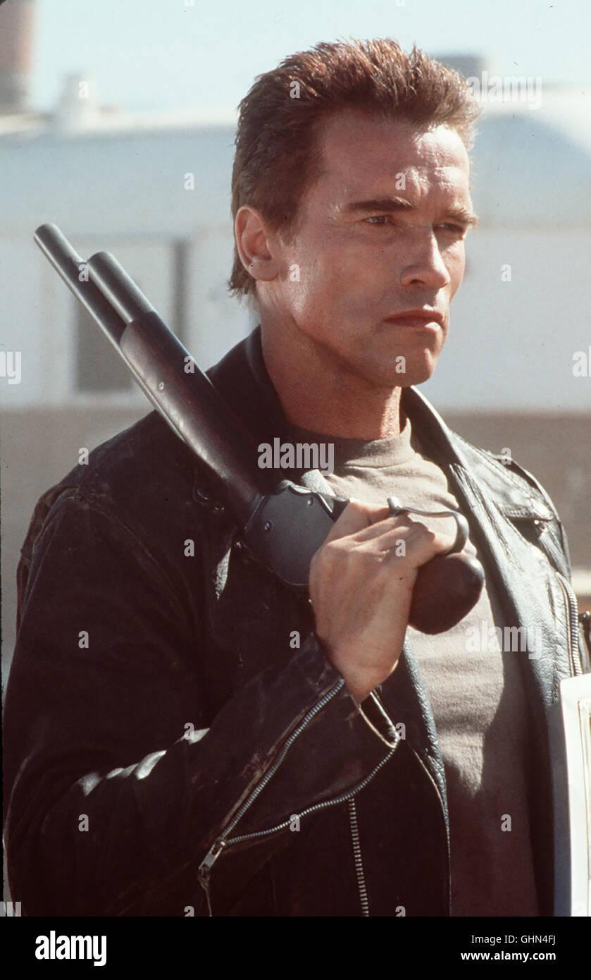 Terminator 2 - Judgement Day Auf der Flucht vor einer besonders gefährlichen Killermaschine aus der Zukunft - Stock Image