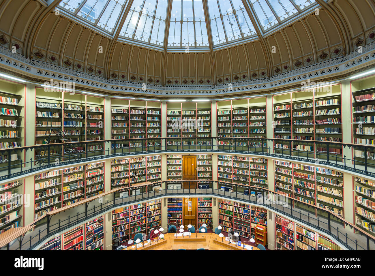Domed reading room, Maughan Library, King's College London, London, United Kingdom - Stock Image
