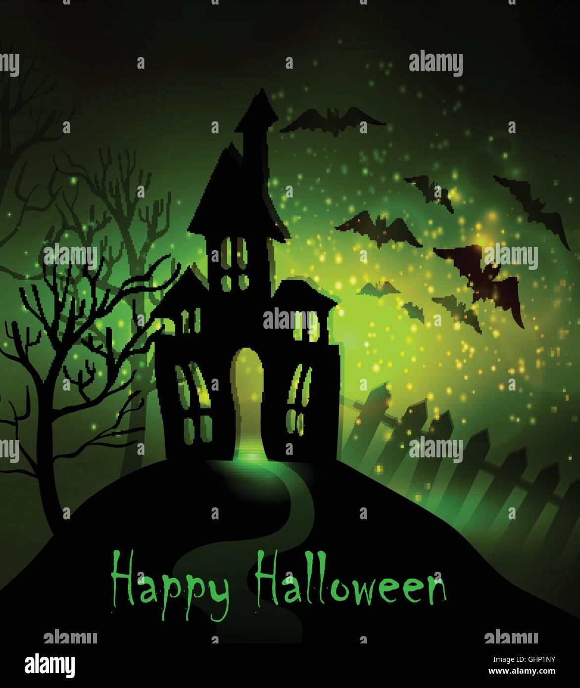 Halloween Haunted House Stock Vector Image Art Alamy