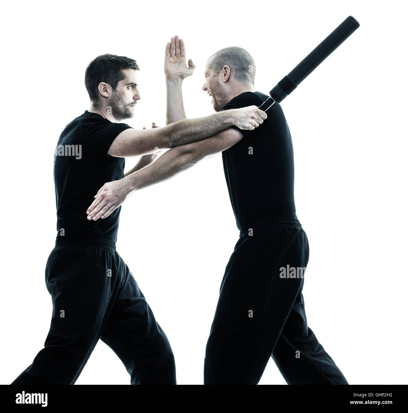 Warriors A Vision Of Shadows Free Download: Two Caucasian Men Krav Maga Fighters Fighting Isolated
