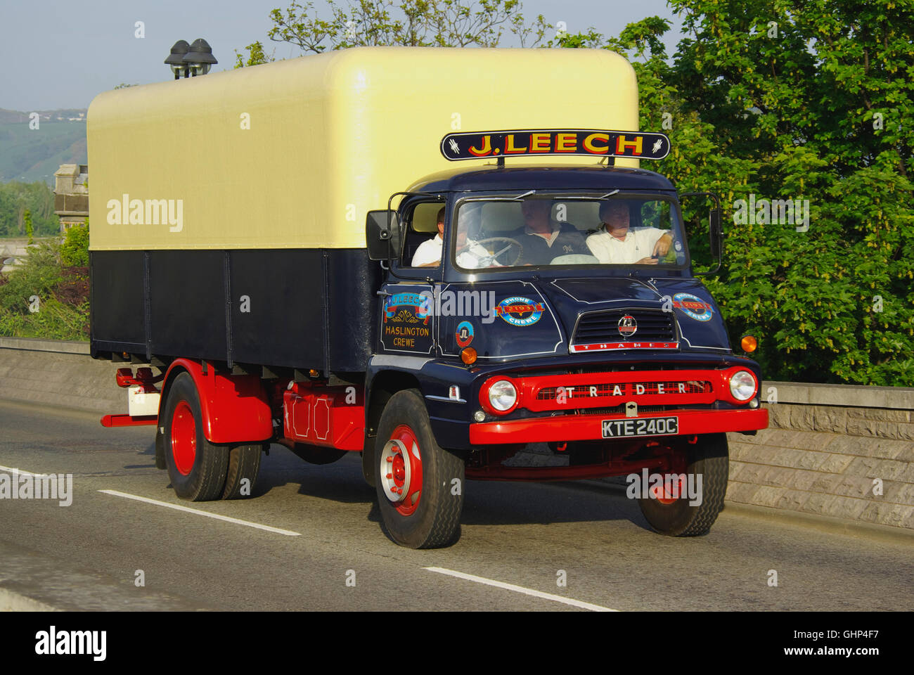 Thames Trader Vintage Lorry at Conwy, - Stock Image