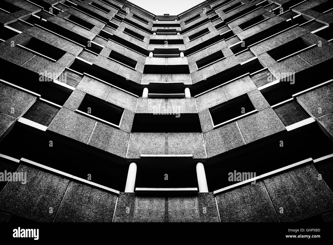 Edifice of a residential building in East London, London, United Kingdom - Stock Image
