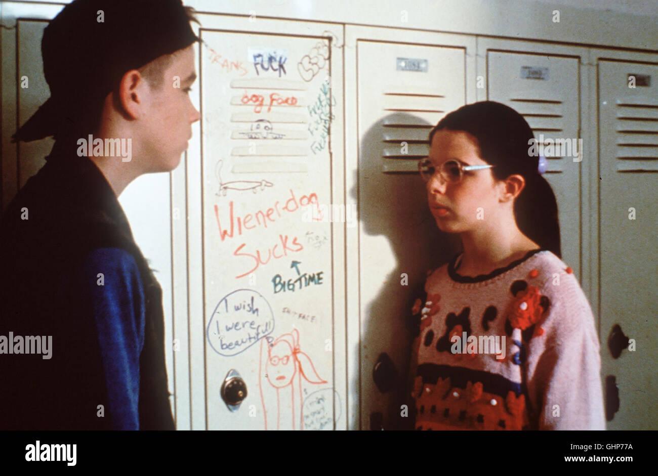 willkommen im tollhaus Die elfjährige Dawn Wiener (HEATHER MATARAZZO) ist ein Mauerblümchen mit Herz und - Stock Image