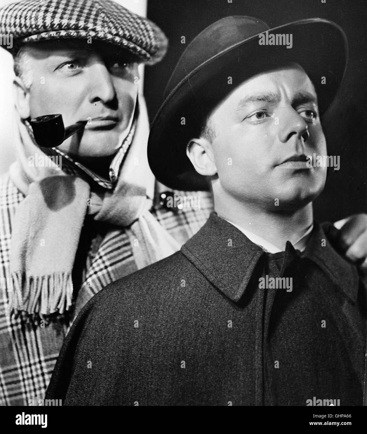 DER MANN, DER SHERLOCK HOLMES WAR D 1937 - Karl Hartl HANS ALBERS und HEINZ RÜHMANN als herrliches Privatdetektiv - Stock Image