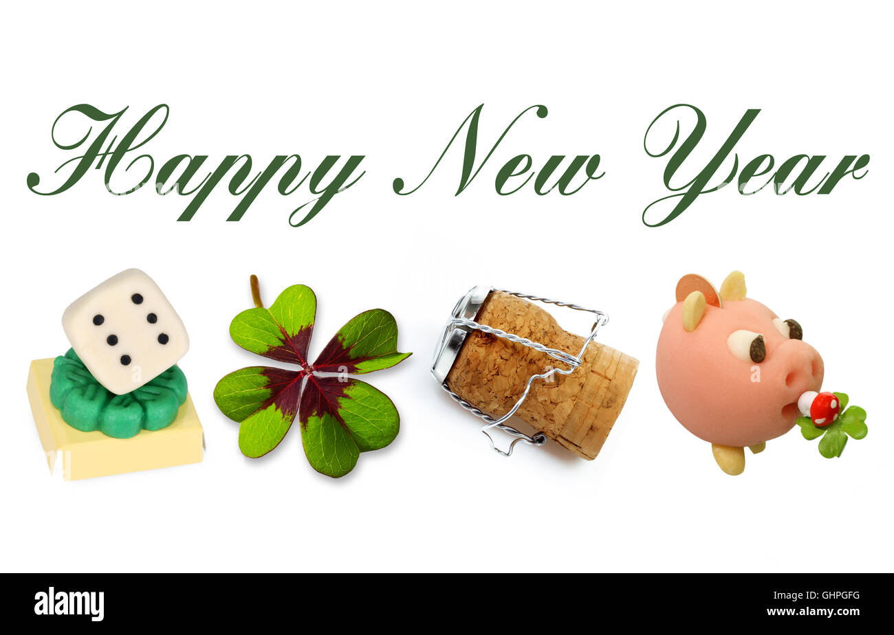 Happy New Year Cut Out Stock Images Pictures Alamy